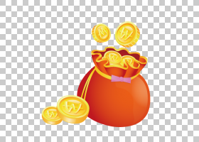 背景海报,橙色,黄色,水果,食物,素食,光栅图形,钱包,Fukubukuro,