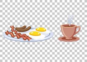 鸡蛋卡通,碟子,风味,饮具,服务软件,咖啡杯,表,橙色,餐具,餐具,浓