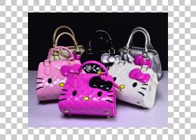 Hello Kitty Pink,行李袋,洋红色,粉红色,女性,女人,皮带,孩子,三