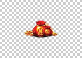 春节红包,橙色,中国传统节日,中国十二生肖,元旦,FU,Fukubukuro,