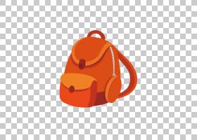 书包卡通,餐具,硬币钱包,行李和袋子,手提包,橙色,包,幼儿园,学生