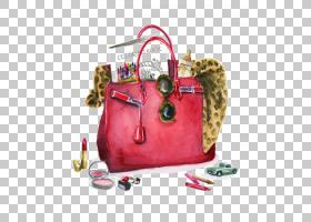书籍水彩画,行李袋,洋红色,销售,粉红色,乔丹・里德,硬币钱包,水