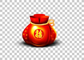 春节红包,橙色,新年,农历新年,红包,Fukubukuro,中国新年,