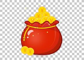 春节红包,橙色,黄色,水果,食物,黄金,像素,红色,中国新年,新年,农