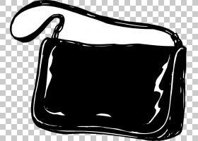 手提包信使包,黑白,线路,白色,肩包,矩形,黑色,行李袋,信使包,拉