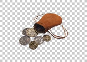 海盗卡通,皮革,枪袋,皮带,王冠,多布隆,银币,白银,金币,盗版硬币,