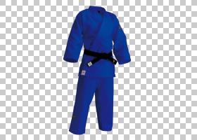 Judogi Blue,服装,干服,服装,钴蓝,运动服,套筒,外衣,Dobok,电蓝,