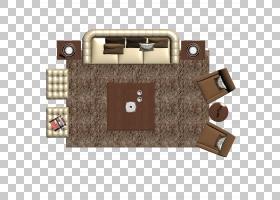 卡通平面,矩形,地板,角度,正方形,棕色,平面图,客厅,床,座椅,立面
