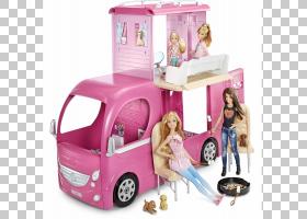 芭比娃娃卡通,播放集,安全带,弹出露营器,折扣和津贴,玩偶之家,露