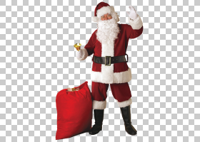 圣诞圣诞老人,圣诞装饰品,成人,红色,皮带,服装,帽子,天鹅绒,毛绒