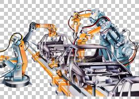 工厂卡通,技术,工程学,生产线,绘图,制造业,行业,机器,装配线,传