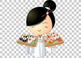 寿司卡通,菜肴,食物,传送带寿司,烹饪,烹饪,厨师,餐厅,亚洲菜肴,