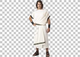 万圣节白色背景,白色,关节,日装,套筒,颈部,肩部,成人,男性,皮带,