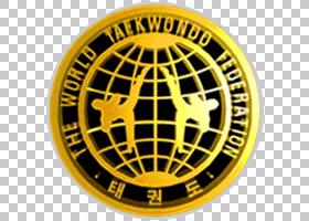 跆拳道卡通,徽章,圆,徽标,黄色,符号,会徽,武术,ATA武术,格斗运动