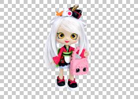 彩虹卡通,芭比娃娃,填充玩具,雕像,粉红色,Shopkins World Vacati