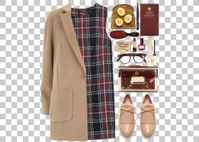 冬季背景,外衣,格子,棕色,皮带,女人,格子呢,启动,手提包,包,外套