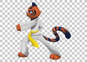 跆拳道卡通,雕像,动物形象,尾巴,棒球装备,材质,头盔,橙色,数字艺