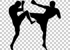 跆拳道站立,黑白,手臂,男性,线路,膝盖,鞋,关节,手,剪影,肌肉,站