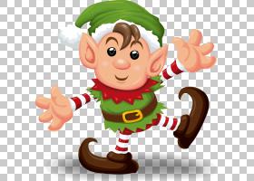 圣诞精灵剪贴画,树,卡通,手,食物,假日,微笑,手指,拇指,圣诞装饰,