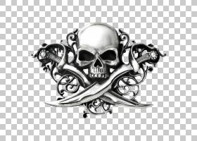 头骨符号,黑白,白银,骨,符号,头骨,哥特继代培养,时尚,服装辅料,