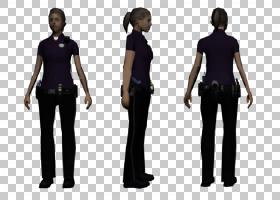 警察卡通,人体模型,关节,腹部,肩部,站立,大盗汽车,皮带,女性,安