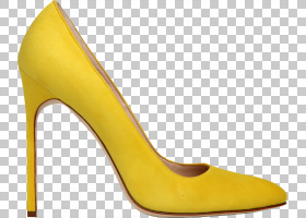 女性卡通,皮革,碱性泵,黄色,高跟鞋,女人,服装,女子达菲泵基本泵,