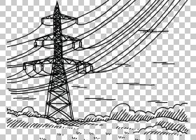 树木图画,树,电力供应,黑白相间,线路,图表,公用事业,结构,图案,