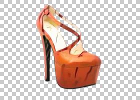 橙色背景,庭院鞋,桃子,米色,腿,棕色,晒黑,碱性泵,橙色,高跟鞋,鞋