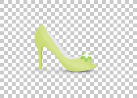 绿草背景,高跟鞋,鞋类,户外鞋,黄色,草,脚跟,紫色,鲜花,鞋子,绿色