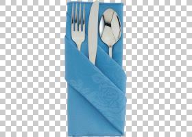 餐巾蓝,电蓝,蔚蓝,绿松石,AQUA,蓝色,餐巾环,叉肉,餐具,勺子,叉子