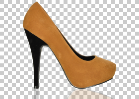 高跟鞋棕色,高跟鞋,碱性泵,泵,米色,棕色,脚跟,绒面革,鞋子,鞋类,