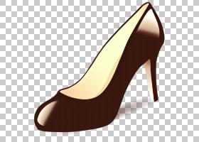 购物卡通,皮革,米色,庭院鞋,棕色,碱性泵,高跟鞋,鞋类,购物,阿雷