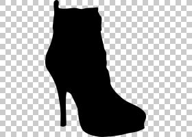 高跟鞋,步行鞋,关节,黑白相间,引导,高跟鞋,黑色,面包车,庭院鞋,
