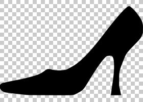 高跟鞋,舞鞋,黑白相间,皮革,庭院鞋,碱性泵,黑色,高跟鞋,时尚,引