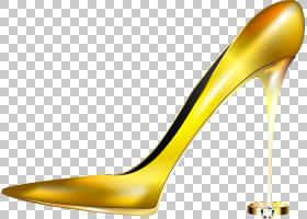 金色背景,高跟鞋,线路,户外鞋,材料,珠子,黄色,脚跟,鞋类,黄金,鞋