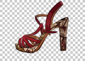 高跟鞋凉鞋,高跟鞋,碱性泵,户外鞋,凉鞋,服装,剪影,鞋类,鞋子,高
