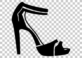 高跟鞋凉鞋,黑白相间,徽标,白色,碱性泵,黑色,关节,户外鞋,线路,