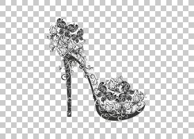 黑白花,黑白相间,鞋类,车身首饰,高跟鞋,珠宝首饰,凉鞋,时尚,脚跟
