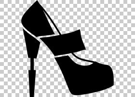黑线背景,高跟鞋,白色,黑色,户外鞋,黑白相间,线路,引导,皮带,鞋
