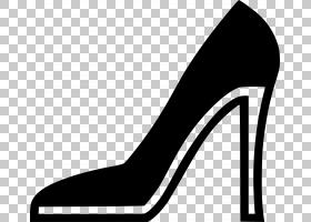 高跟鞋高跟鞋,风格,线路,黑白相间,庭院鞋,碱性泵,鞋类,高跟鞋,剪