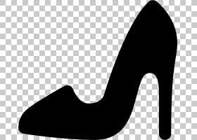 高跟鞋高跟鞋,黑白相间,线路,高跟鞋,脚跟,鞋类,剪影,鞋子,高跟鞋
