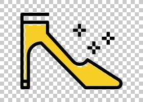 高跟鞋黄色,签名,符号,角度,面积,线路,文本,黄色,制服,免费赠送,