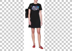 鸡尾酒卡通,鸡尾酒会礼服,鞋子,时装模特,T恤,小黑裙,肩部,日间连