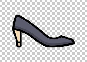 鞋子卡通,步行鞋,户外鞋,碱性泵,高跟鞋,黑色,脚跟,手提包,运动鞋