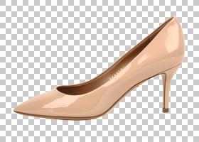 鞋棕色,鞋类,高跟鞋,碱性泵,米色,桃子,步行鞋,棕色,步行,脚跟,纺