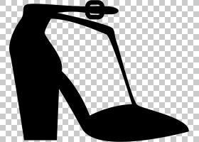 鞋类鞋类,人腿,关节,剪影,面积,线路,高跟鞋,黑白相间,黑色,鞋类,