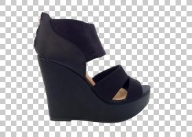 绒面凉鞋,鞋类,高跟鞋,碱性泵,黑色,户外鞋,黑色M,乐团,皮带,袖口
