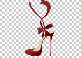 绘画卡通,红色,高跟鞋,线路,胭脂红,鞋类,户外鞋,服装,帆布印花,