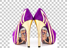 背景金色,户外鞋,洋红色,高跟鞋,紫罗兰,鞋类,黄金,黑色,脚趾,黄
