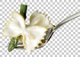 花白,餐具,餐具,花瓣,鲜花,植物,不锈钢,白色,电视,叉子,面条,意
